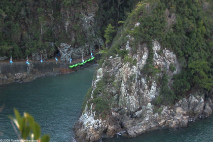 The Cove in Taiji, Japan tucked away in a National Park and is a